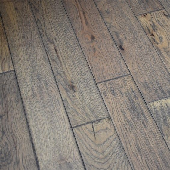5 X 3 4 Hickory Hand Scraped Prefinished Solid Greystone Hurst Hardwoods In 2020 Prefinished Hardwood Prefinished Hardwood Floors Hardwood