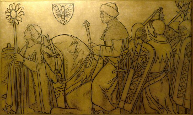 Jan Žižka táhnoucí na hrad Rabí je možná nejslavnějším z Alšových kartonů pro fasády domů. -plzenska-neorenesance-vznikla-diky-spolupraci-malire-alse-a-architekta-stecha.html