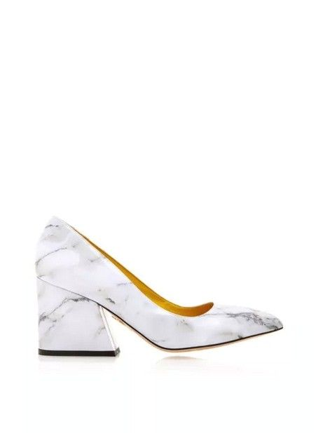 Vendome Marble Pumps by Charlotte Olympia
