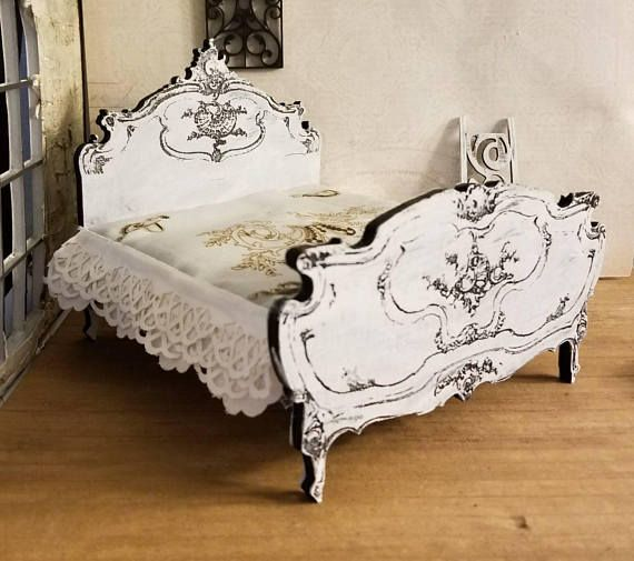 Gorgeous miniature dollhouse reproduction of a Louis XV style
