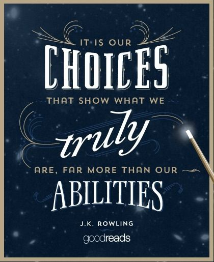 Powerful words from Albus Dumbledore.