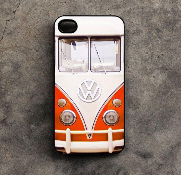 Toffe iPhone cases - wonen voor mannen - iphonecase, volkwagen busje, smartrepair, telefoonhoesje