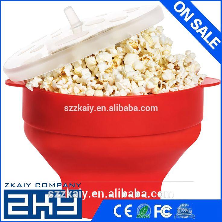 Popcorn Maker Pop Corn Bowl With Lid Microwaveable New Kitchen Baking wares DIY Foldable Popcorn Bucket Microwave Safe