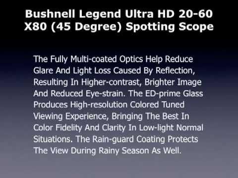Bushnell Legend Ultra Spotting Scope   Spotting Scope Reviews and Ratings