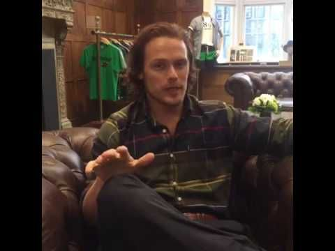 Sam Heughan LIVE at Barbour store in NY - YouTube