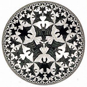 Circle Limit IV, Escher. Angels and Bats!