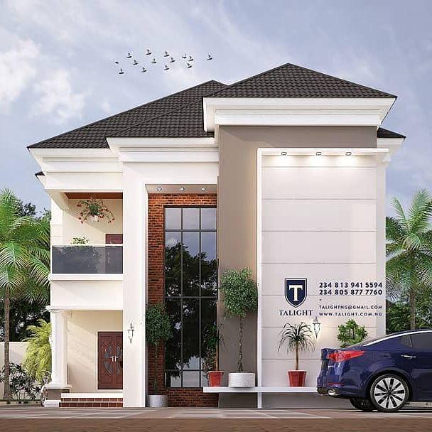 Architectural Design Of A Four Bedroom Duplex Plan Properties Nigeria In 2020 Duplex Design Duplex House Design Architect Design House