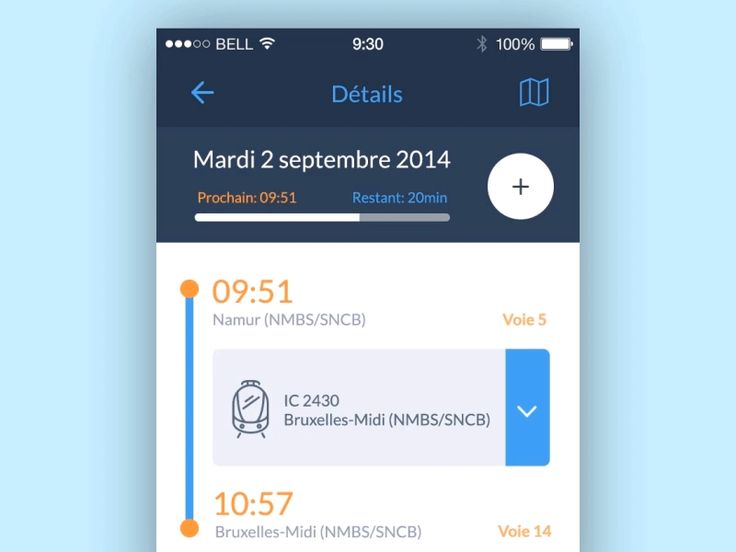 A little concept for the new version of Belgian rail app (Only in Belgium)