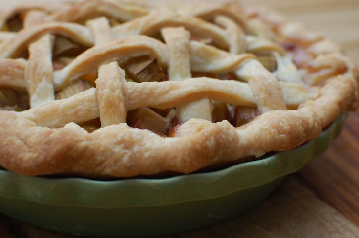 how to make a pie using frozen rhubarb