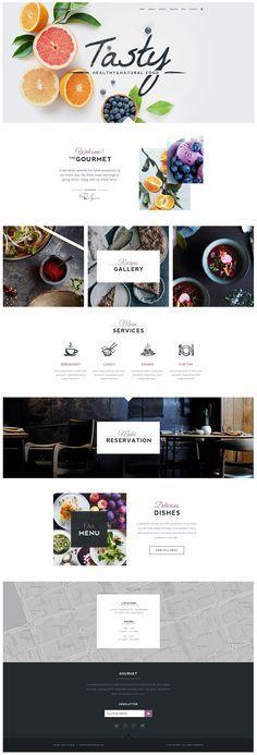 Gourmet - Restaurant & Cafe WordPress Theme