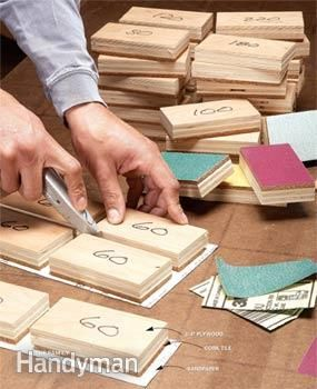 Make reusable sanding blocks for your woodworking projects.