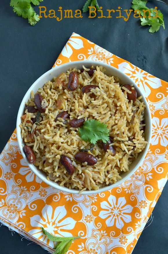 For the final day of blogging marathon #27 I am sharing you a healthy,protein packed biriyani with the red kidney beans/rajma.  The recip...
