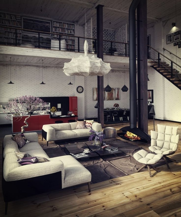 35 lofts industriels crs avec un logiciel de rendu 3d