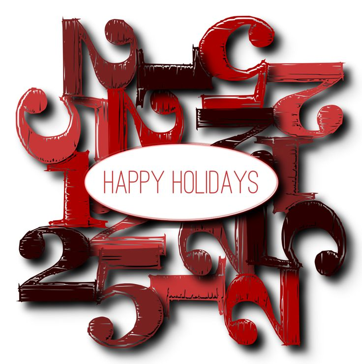 Modern Happy Holiday Christmas 12-25 Stamps http://www.zazzle.com/dahjo_store?rf=238481928796519839