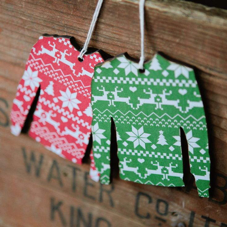 Christmas Jumper Decoration & Tag Set
