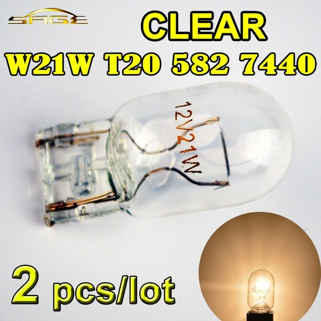 Hippcron T20 7440 582 W21w Clear Glass Car Reverse Bulb 12v 21w W3x16q Auto Front Indicator Lamp 2 Pcs Review Clear Glass Car Lights Bulb