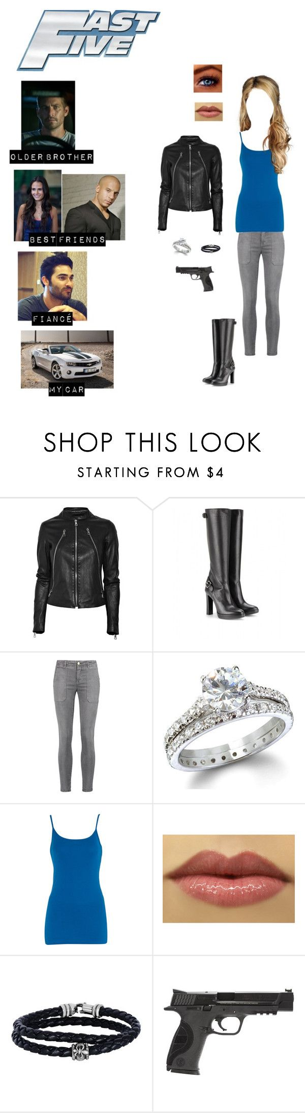 """Me in ""Fast 5"""" by nerdbucket ❤ liked on Polyvore featuring Maison Margiela, Burberry, Current/Elliott, Dorothy Perkins, Phillip Gavriel and Smith & Wesson"