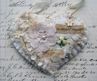 Kathy McElroy's gorgeous fabric heart