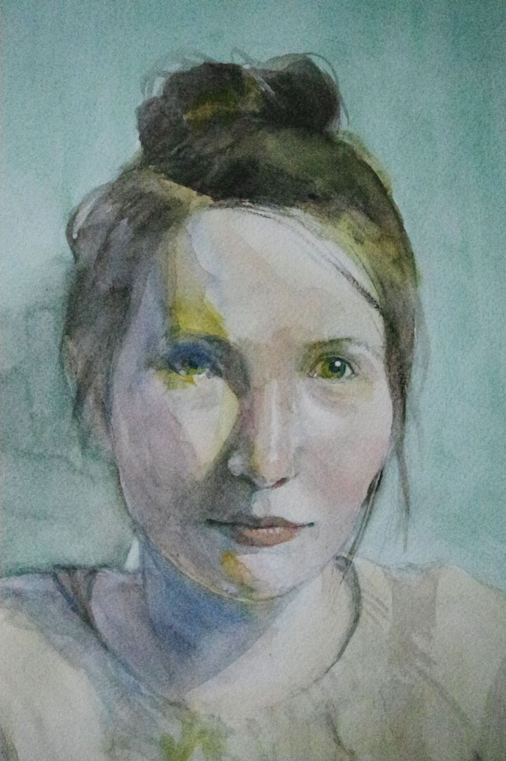 watercolor, aquarel, akwarela, women portrait