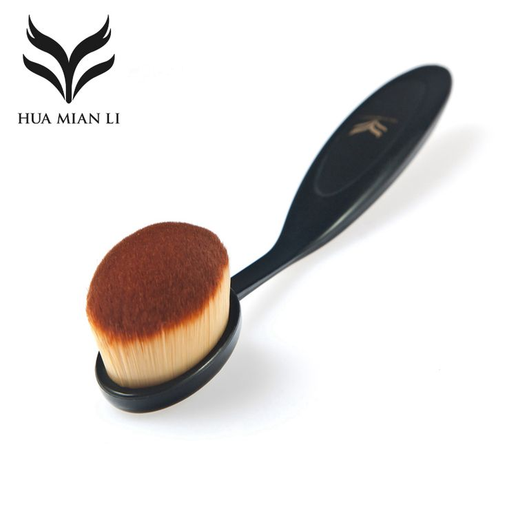 HUAMIANLI Brand New Tooth Brush Shape Oval Makeup Brush Set Make Up Tool Brushes Professional Foundation Powder Korean Maquiagem
