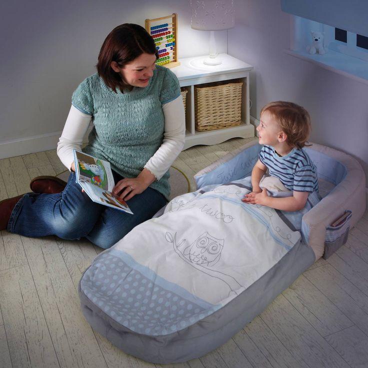Premier lit d'appoint hibou pour enfant de 1 an et demi à 3 ans - Oxybul éveil et jeux