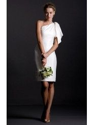 Shantung One Shoulder Wedding Dress