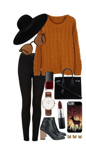 Untitled #541 by clary94 on Polyvore featuring Topshop, Marni, Yves Saint Laurent, Daniel Wellington, Maison Margiela, Maison Michel, Ray-Ban, MAC Cosmetics and NARS Cosmetics