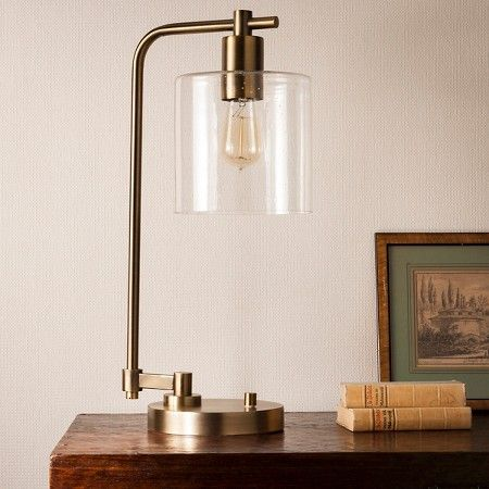 Hudson Industrial Table Lamp - Antique Brass - Threshold™ : Target