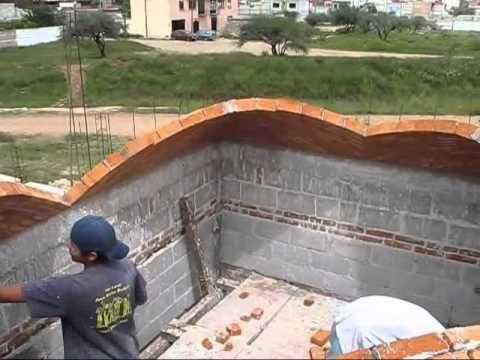 Boveda catalana, (BRICK ROOF) construcción artesanal. - YouTube