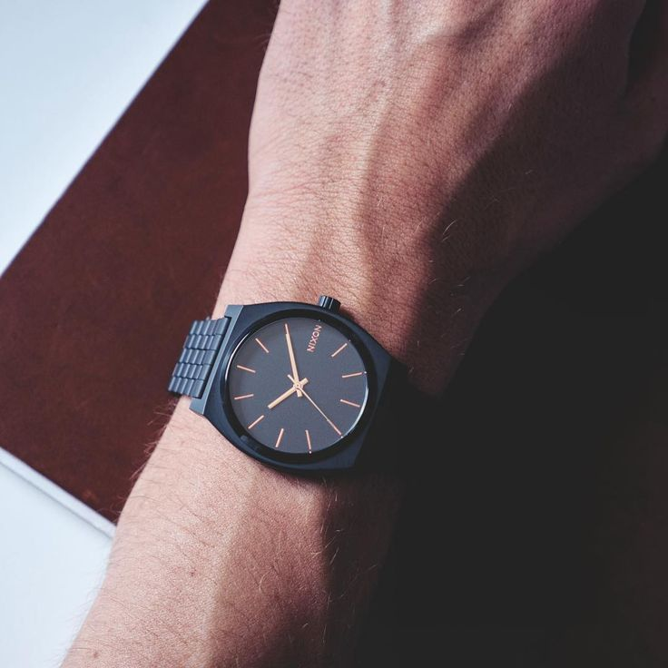 the time teller nixon watch matte black rose gold working the time teller nixon watch matte black rose gold working time men s fashion black roses matte black and watches