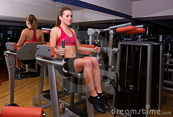 Gym Machine Workouts For Women | Woman Workout In Gym Royalty Free Stock Photos - Image: 17329078