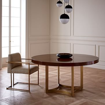 **this is too big, but perhaps something like this for the dining table?**   Uptown Round Dining Table #westelm