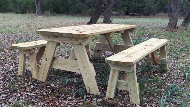 Liked on YouTube: How to Build a Picnic Table