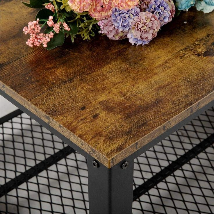 Yaheetech Industrial Coffee Table With Storage Shelf 353 Yaheetech Industrial Coffee Table With Sto Coffee Table Coffee Table Vintage Industrial Coffee Table