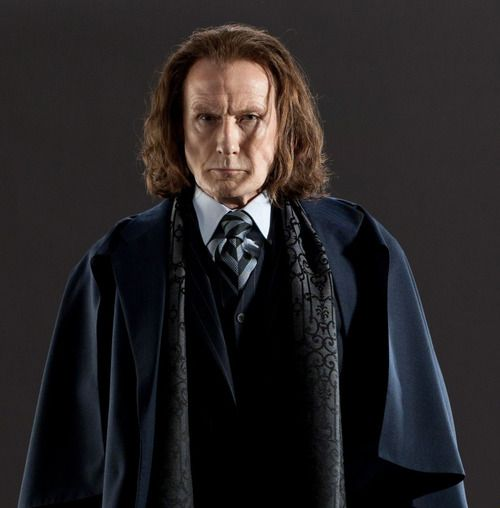 Minister of Magic Rufus Scrimgeour in the HARRY POTTER series (played by Bill Nighy in the films)