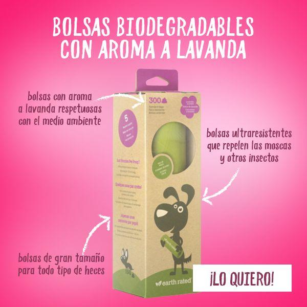 Las bolsas biodegradables con aroma a lavanda Earth Rated son un accesorio imprescindible en el día a día con tu mascota. Estas bolsas higiénicas te permiten recoger los excrementos de tu perro eliminando el mal olor gracias a su fresco aroma y, además, ¡son respetuosas con el medio ambiente!