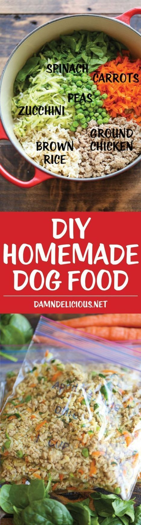 This slow cooker DIY dog food will definitely have your doggie wanting more! This wonderful blogger includes a breakdown of the nutritional requirements of dog food and provides a nourishing recipe too!
