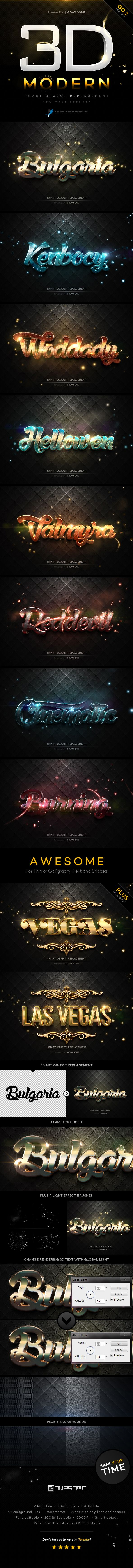 Modern 3D Text Effects GO.2 #photoshop Download here: http://graphicriver.net/item/modern-3d-text-effects-go2/10185160?ref=ksioks