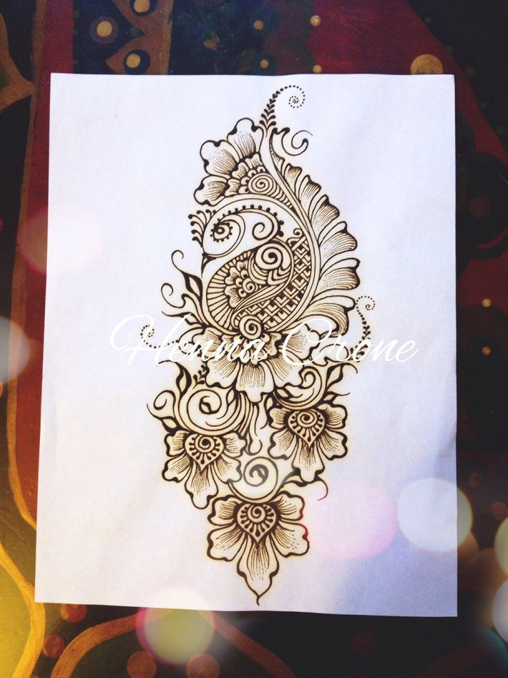 how to make henna designs on paper
