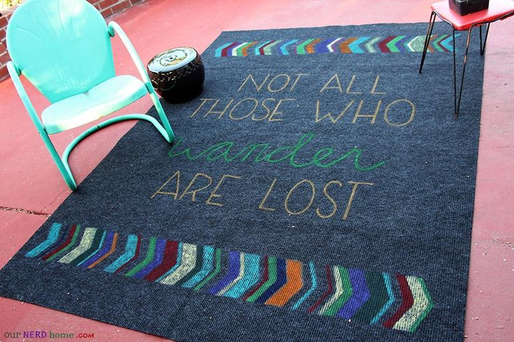 Not All Those Who Wander Are Lost Diy Rug Our Nerd Home Pinterest Apartments Room And