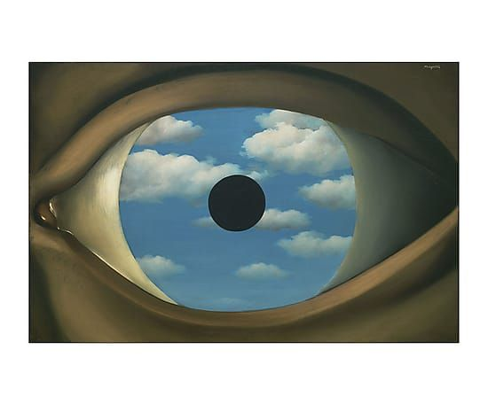 Impression sur bois the false mirror 80 52 all posters for Rene magritte le faux miroir