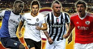 Europa League 2013-14, Valencia, Juventus, Lyon, Porto,Sevilla,Basilea. April 10, 2014