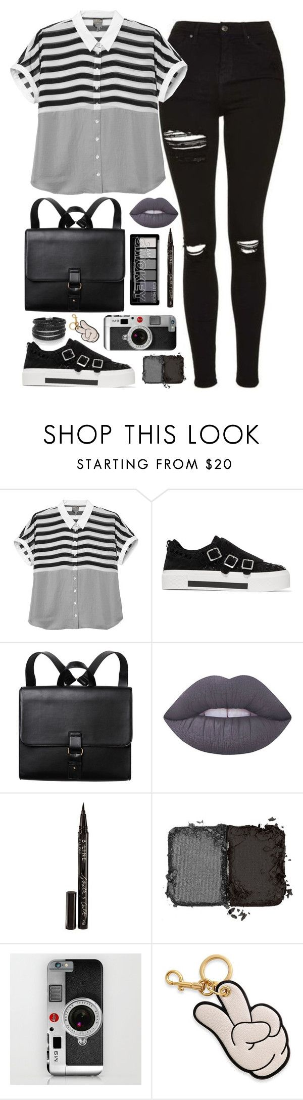 """greyscale"" by bschreiber ❤ liked on Polyvore featuring Monki, Alexander McQueen, Lime Crime, Smith & Cult, NARS Cosmetics, Anya Hindmarch and Sif Jakobs Jewellery"