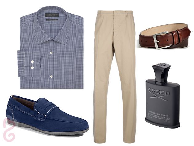 Men's cruise wear: casual evening outfit