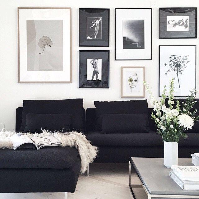 art   modern dark charcoal sofa