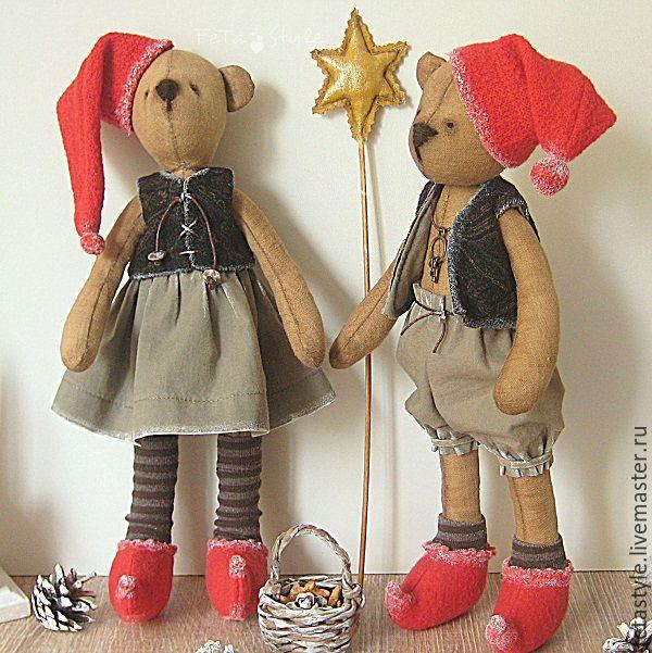 Купить Гномы Рождественские Мишки Тильда - мишка, мишка ручной работы, мишка тильда
