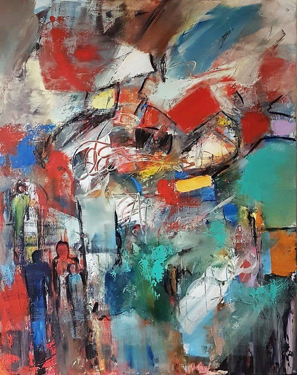 Original Bild Gross Moderne Abstrakte Malerei Abstrakte Kunst