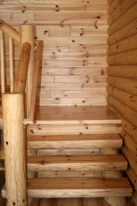 how we chose a log staircase for our log cabin