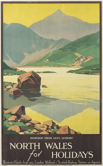 Roger Broders (1883-1953): North Wales for Holidays 1929