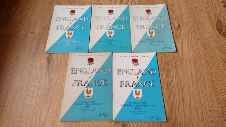 #England v france #rugby #programmes 1953 - 2013,  View more on the LINK: http://www.zeppy.io/product/gb/2/182219331018/
